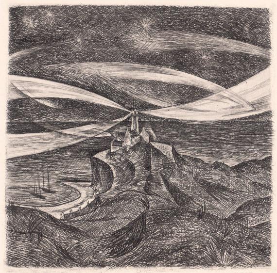 «Leuchtturm mit rotierenden Strahlen»