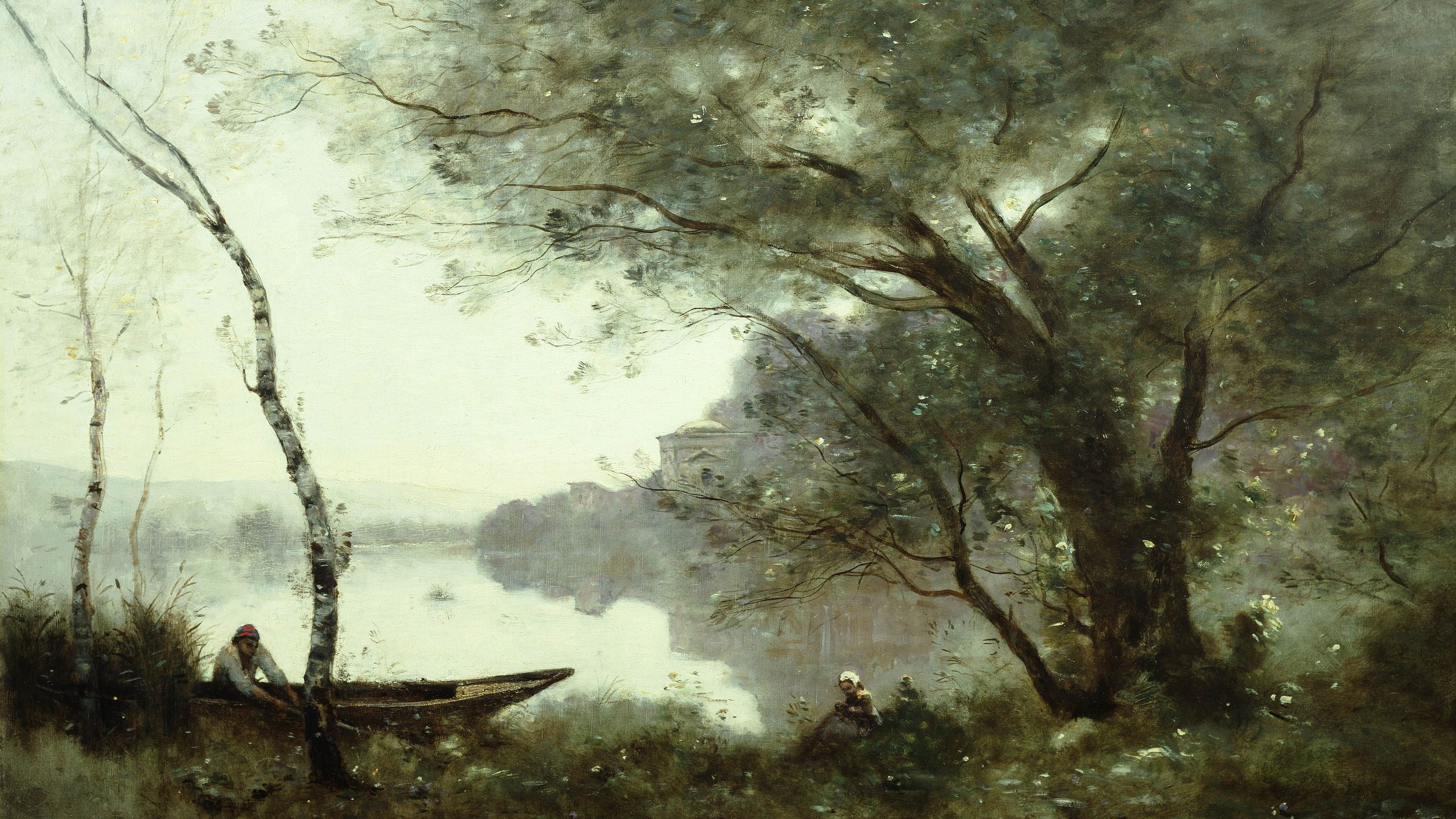 Camille Corot, The Boatman of Mortefontaine, 1865-1870, Oel auf Leinwand, 60,9x89,8 cm, Henry Clay Frick Bequest (Foto: The Frick Collection)