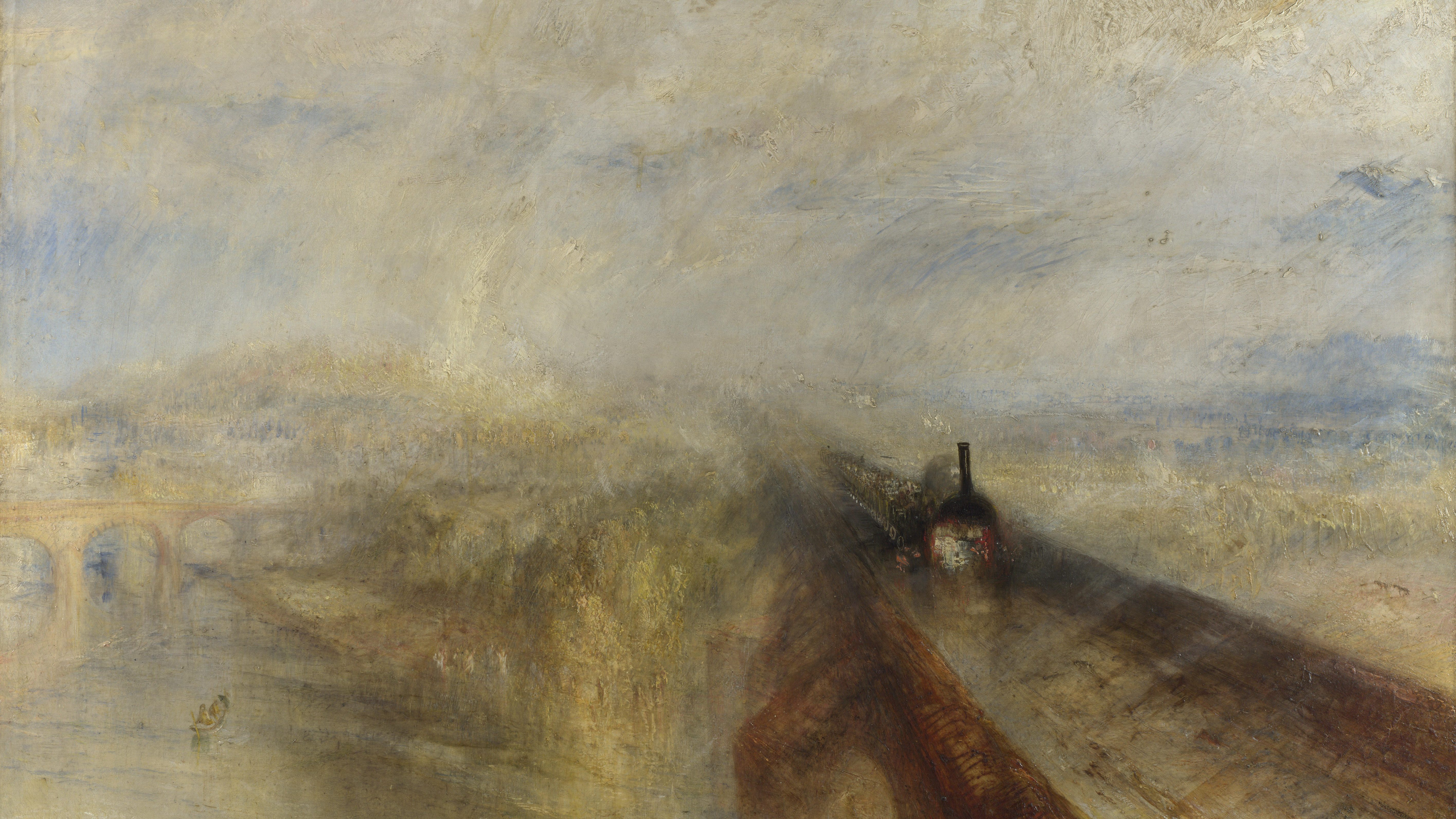 J.M.W. Turner, Rain, Steam and Speed, 1844, Oel auf Leinwand, 91x121,8 cm, National Gallery, London (Foto: National Gallery, London)