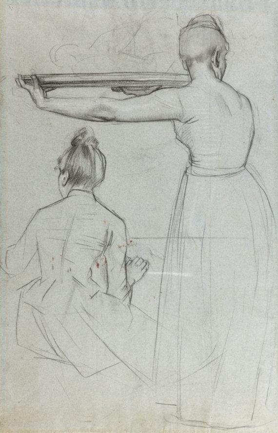 Ferdinand Hodler – Studie zweier Frauen in Rückenansicht