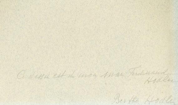 Ferdinand Hodler – Studie zu «Bildnis einer Unbekannten (Savoyerin)» – Echtheitsbestätigung